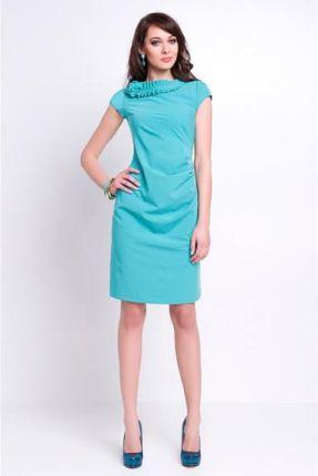 001f8ecd4b Vera Fashion Elegancka sukienka wizytowa - Salome miętowa