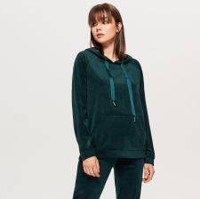 7cceea9632ea Cropp - Welurowa bluza hoodie - Khaki - Ceny i opinie - Ceneo.pl