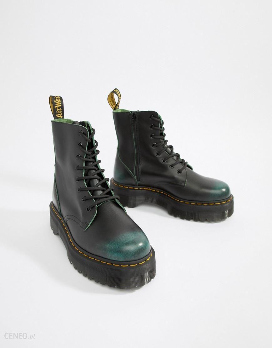 außergewöhnliche Auswahl an Stilen modernes Design spätester Verkauf Dr Martens Jadon 8-eye zip boots in green - Green - Ceneo.pl
