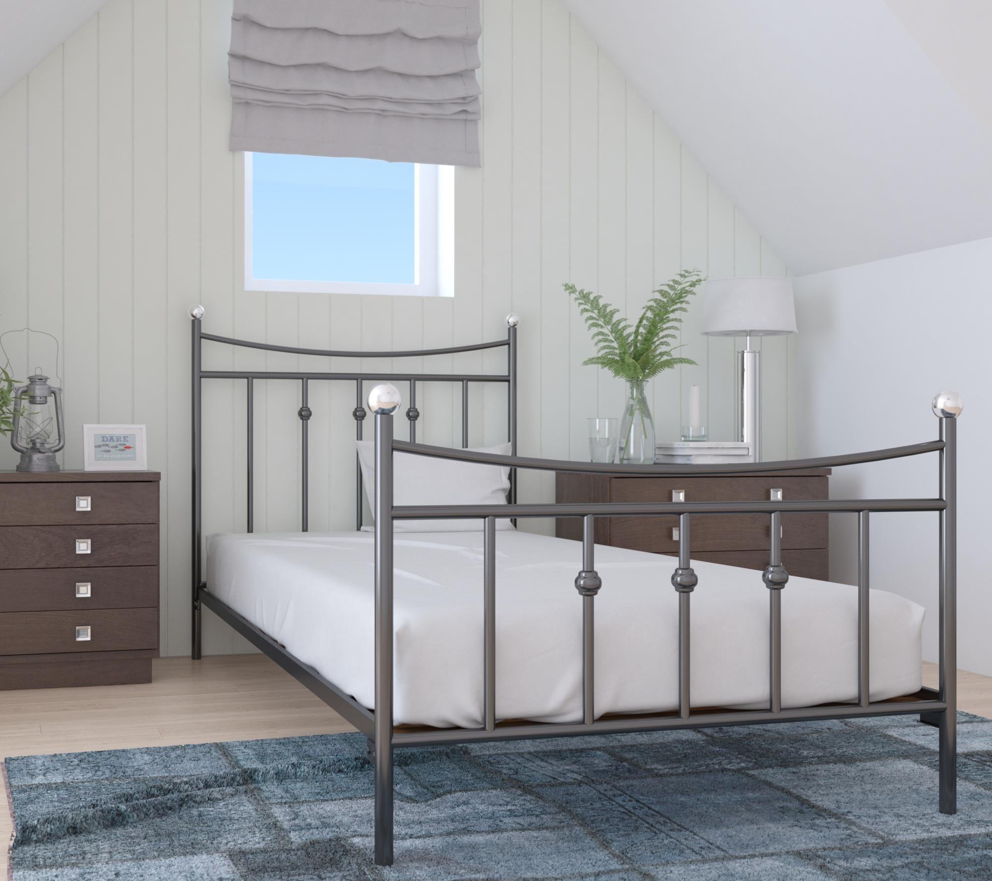 Lak System łóżko Metalowe 100x200 Wzór 26 Stelaż