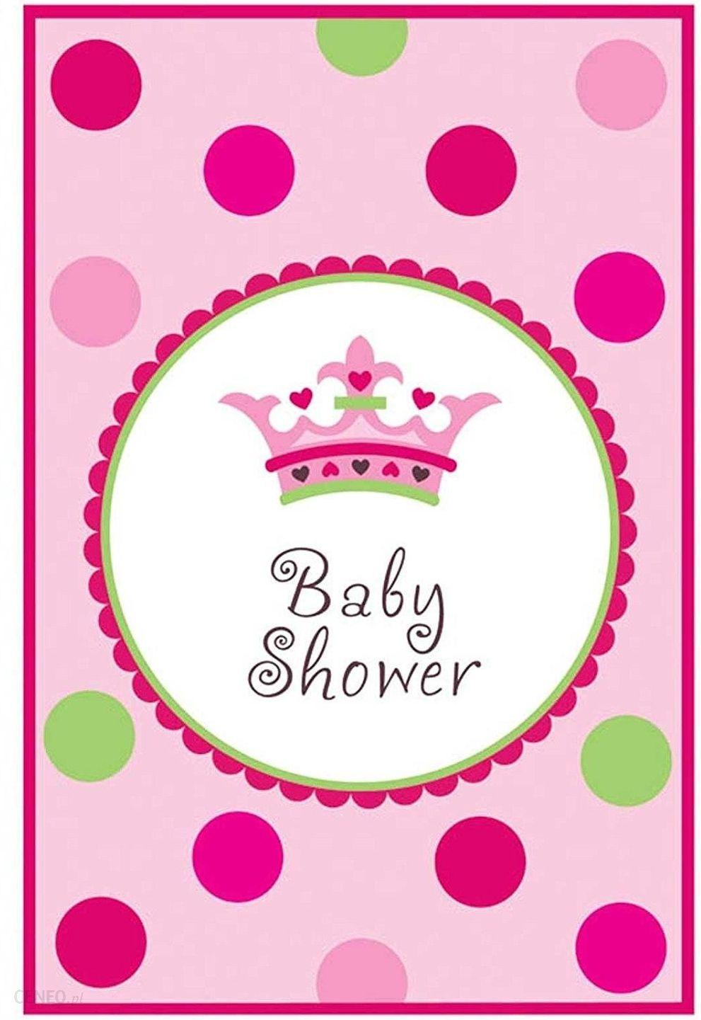 Amscan Usa Zaproszenia Baby Shower Dziewczynki 1szt Ceny I Opinie