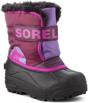 d7b0fe64dc9c5 Śniegowce SOREL - Childrens Snow Commander NC1877 Purple Dahlia Paisley  Purple 562 eobuwie. Buty zimowe ...