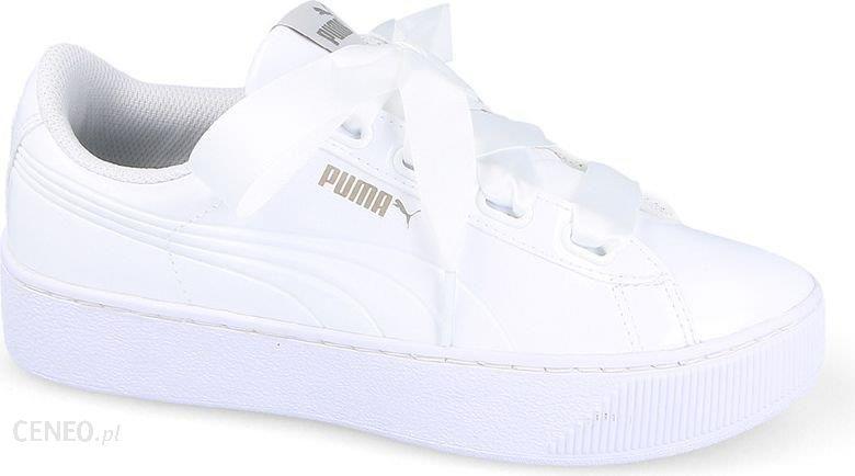 Tenisówki Puma Damskie Vikky Platform Ribbon Białe