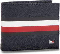 53f703fb42370 Duży Portfel Męski TOMMY HILFIGER - Block Stripe Mini Cc AM0AM03875 ...