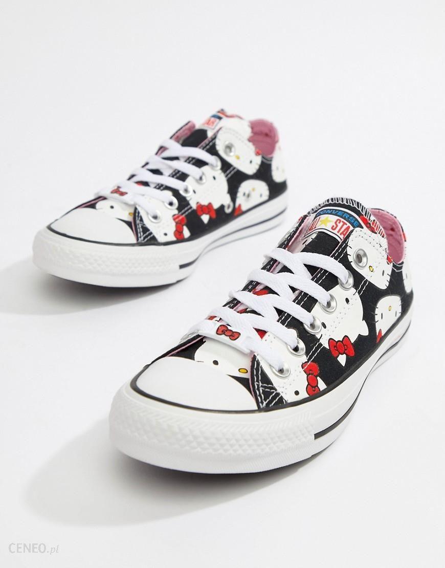 Converse X Hello Kitty Hi Trainers White Buty damskie