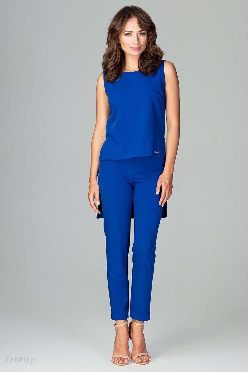 0a542f2d251203 Katrus Niebieski Komplet Bluzka +Spodnie z Wywijaną Nogawką - Ceny i ...