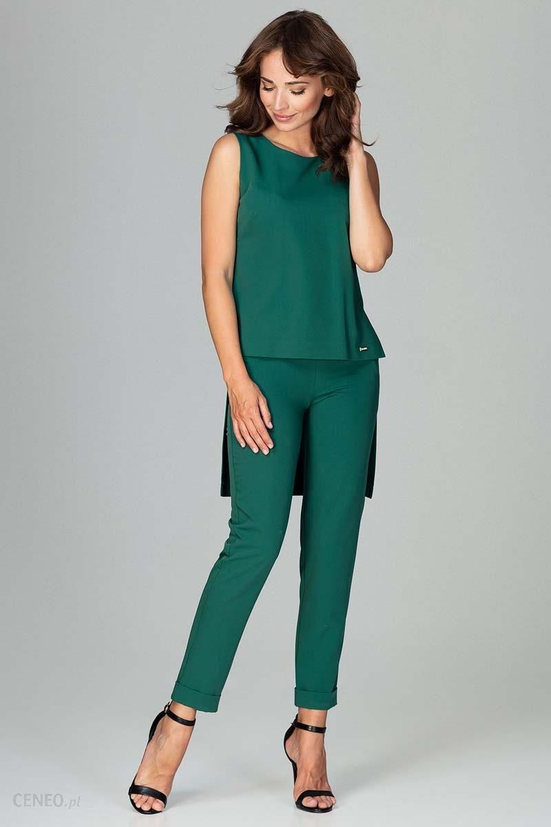 fdc7e44d0e2c4c Katrus Zielony Komplet Bluzka +Spodnie z Wywijaną Nogawką - Ceny i ...