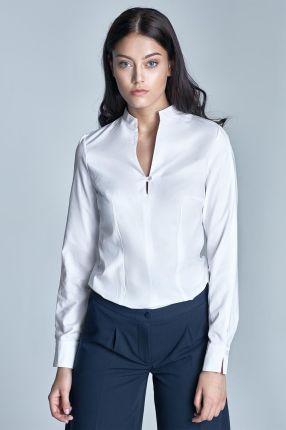Koszula Damska ze stójką Ecru A111 | Bluzy, Moda biurowa i