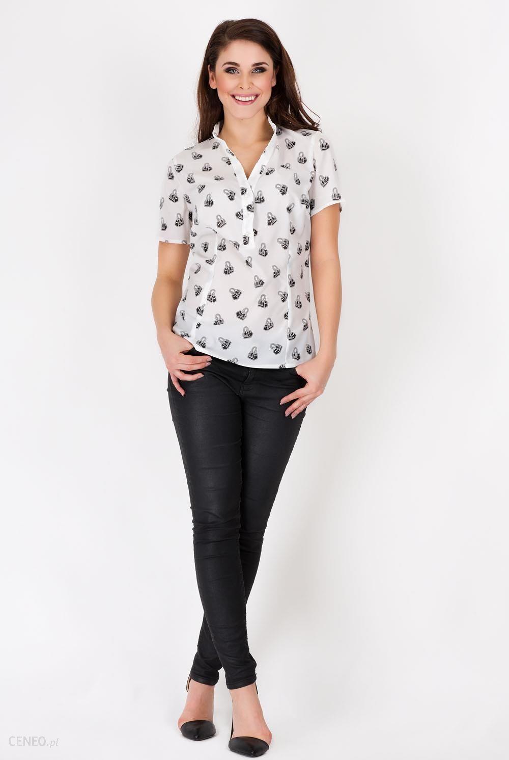 koszula taliowana wzorzysta