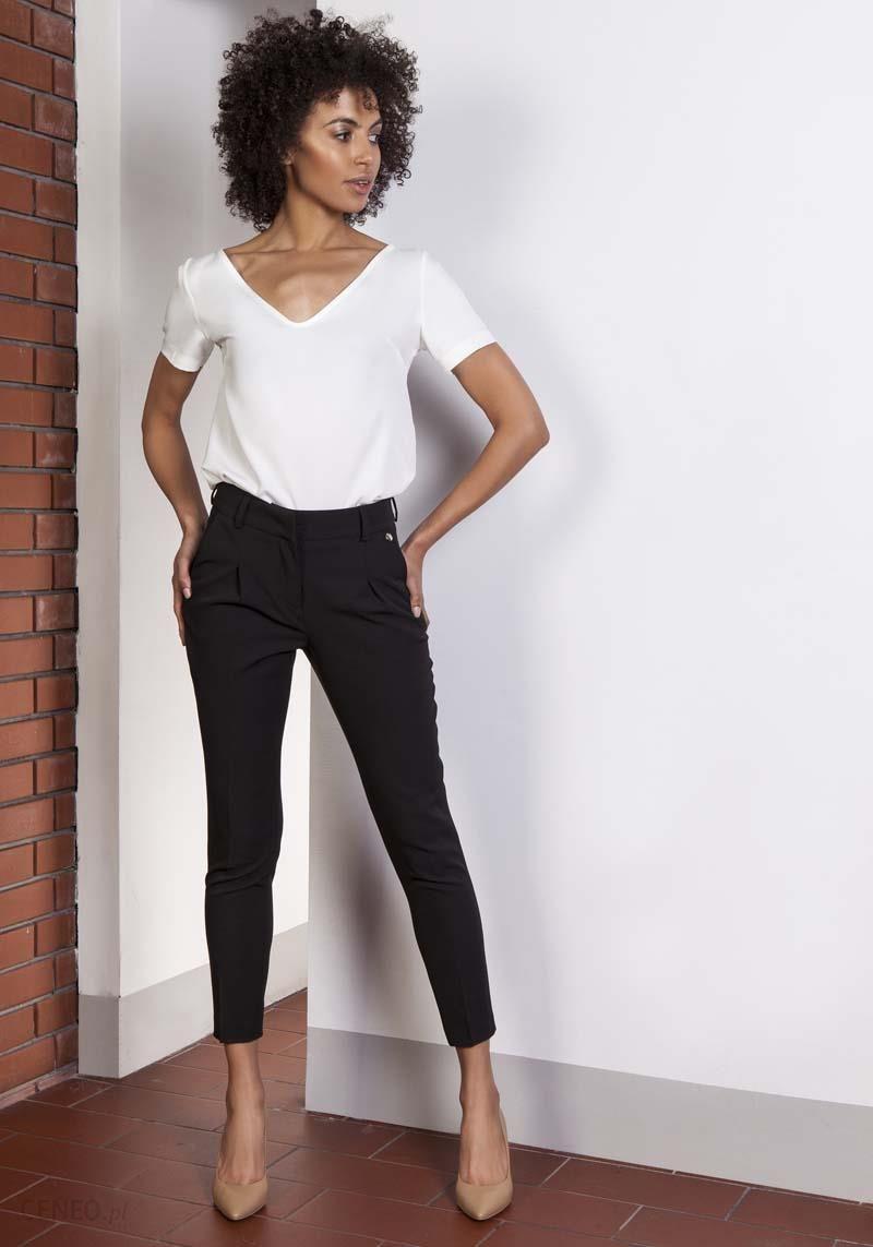 spodnie damskie 7 8 dl z wysokim stanem