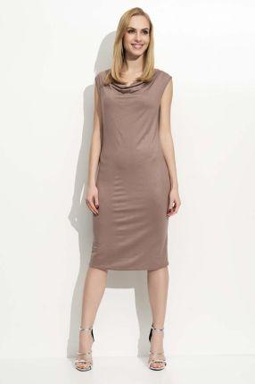561e6d5dda Makadamia Jeansowa Sukienka Asymetryczna Bombka Midi z Długim ...