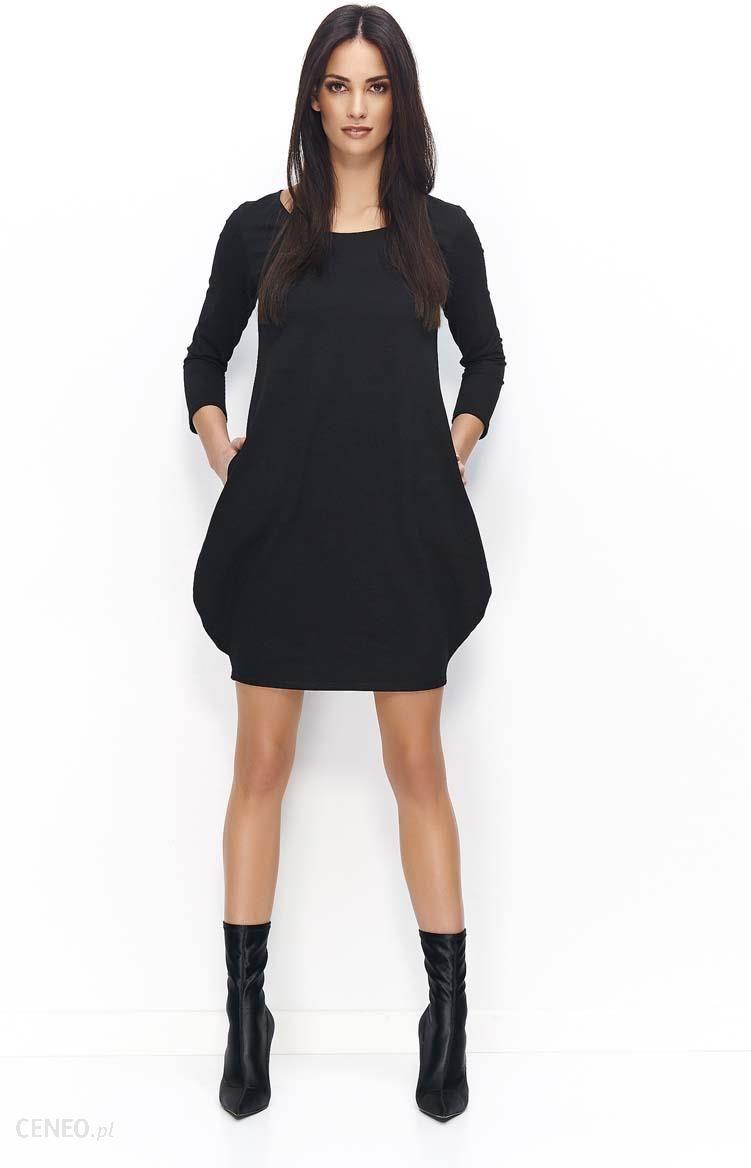 fa263bf982 Makadamia Czarna Dresowa Mini Sukienka Bombka - Ceny i opinie - Ceneo.pl