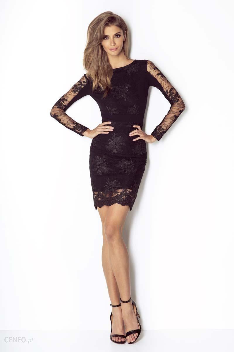 c0f7e605 Wow Point Czarna Koronkowa Wieczorowa Sukienka Ołówkowa