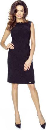 239a6f0d7a Podobne produkty do Kartes Moda Czarna Sukienka Prosta Elegancka bez Rękawów  z Różami. Bergamo Czarna Ołówkowa Sukienka w Wytłaczane Kwiaty