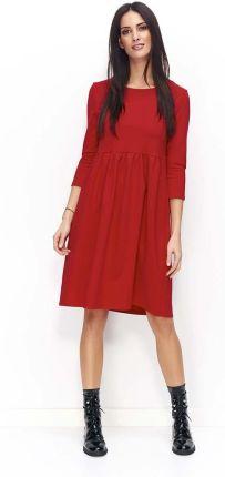 0cf45d7e06 Elegancka sukienka trapezowa z siateczkowymi wstawkami L Czarny ...