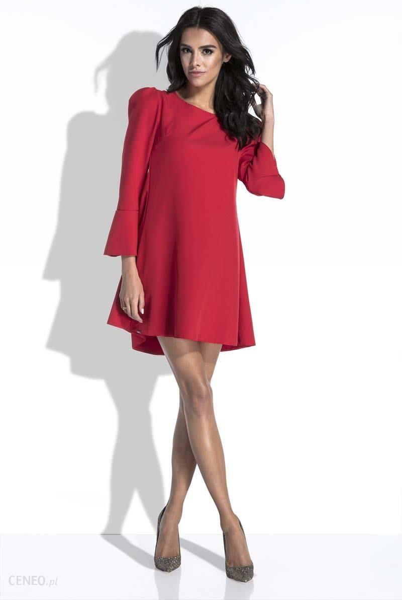 e3ec85f6e7 Fobya Czerwona Sukienka Mini o Linii A z Dekoltem na Plecach - zdjęcie 1