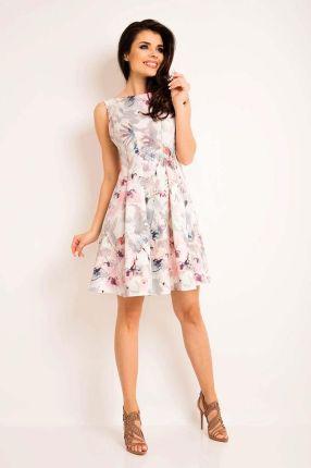 6907edba73 Awama Letnia Sukienka z Kwiatowym Jasnym Wzorem