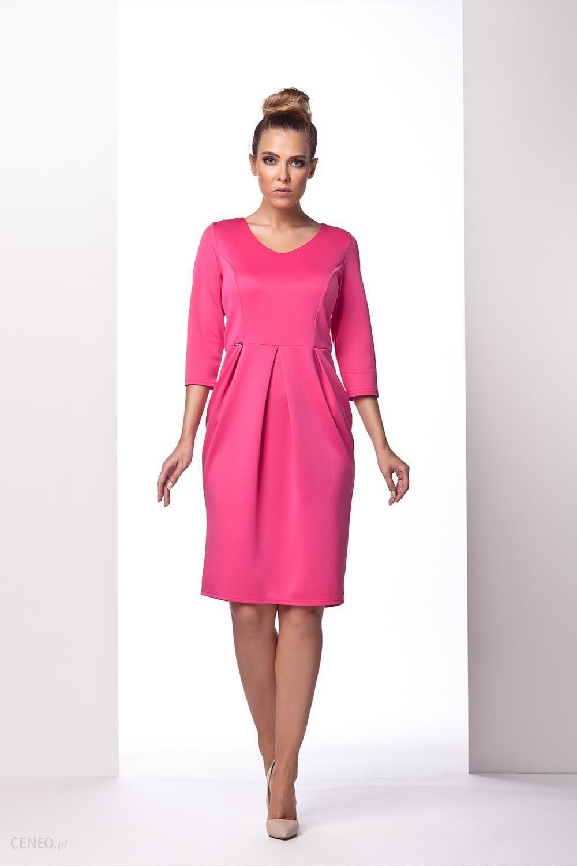 3a5570d7ee Lemoniade Różowa Sukienka Bombka z Długim Rękawem - Ceny i opinie ...