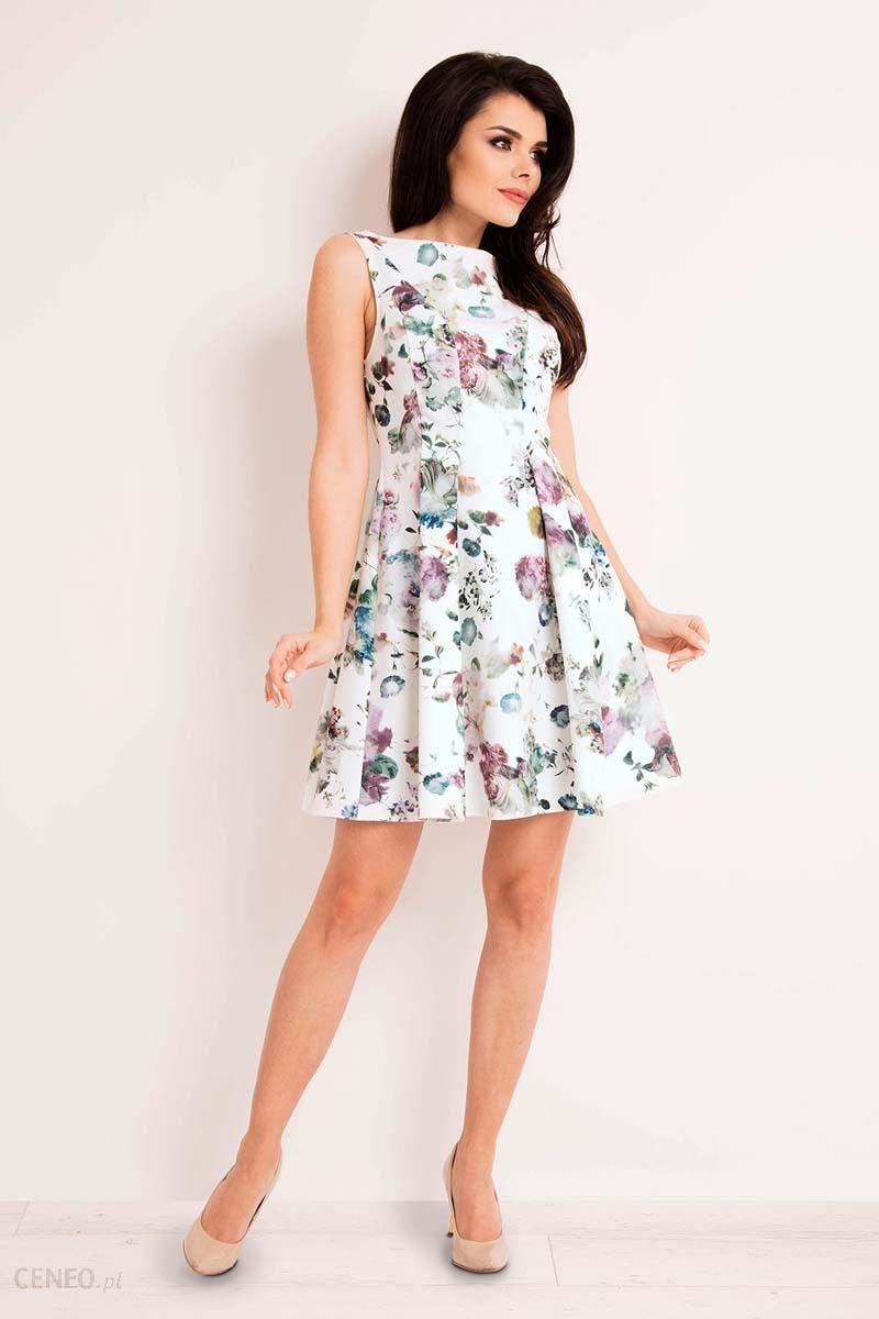 1c09d4949e Infinite You Sukienka Rozkloszowana w Kolorowe Kwiaty - Ceny i ...
