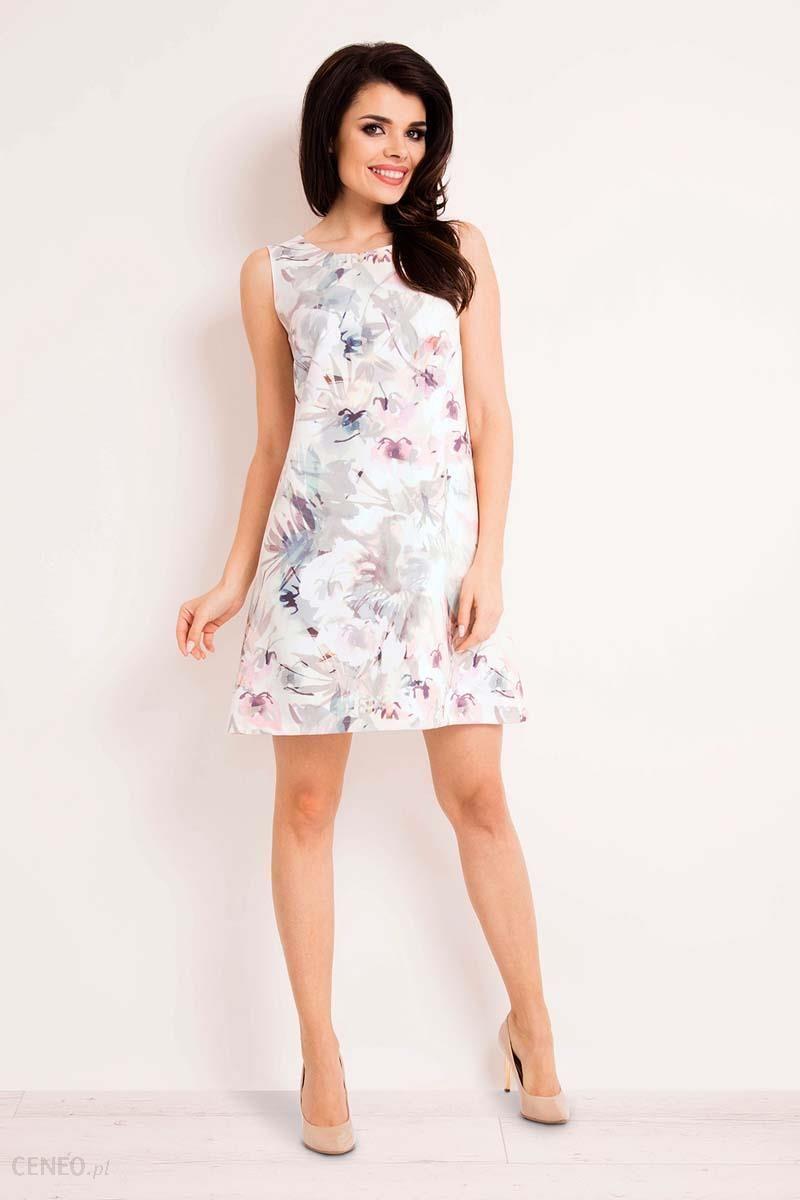 d6d9dd4856 Infinite You Sukienka Trapezowa Mini w Jasne Kwiaty - Ceny i opinie ...