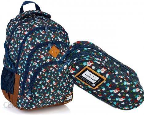 83cf7a3f5c027 Astra Head Zestaw Szkolny Plecak Hd-111 + Piórnik Hd-112 Kwiaty - zdjęcie