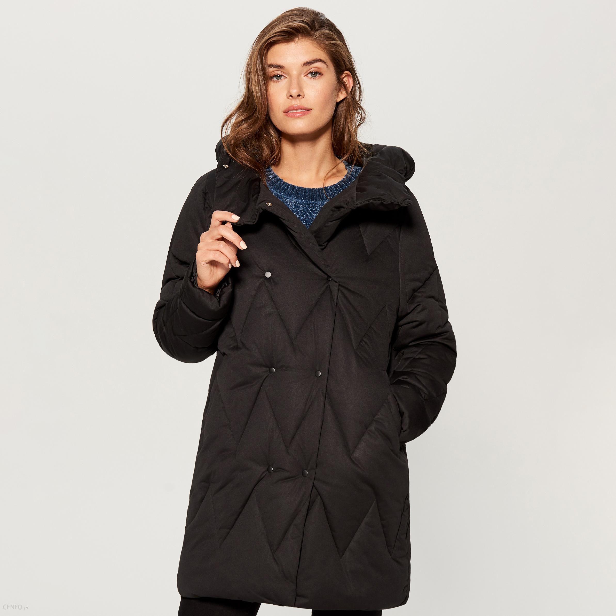 2aff39e77962d Mohito - Długa kurtka typu puffa - Czarny - Ceny i opinie - Ceneo.pl