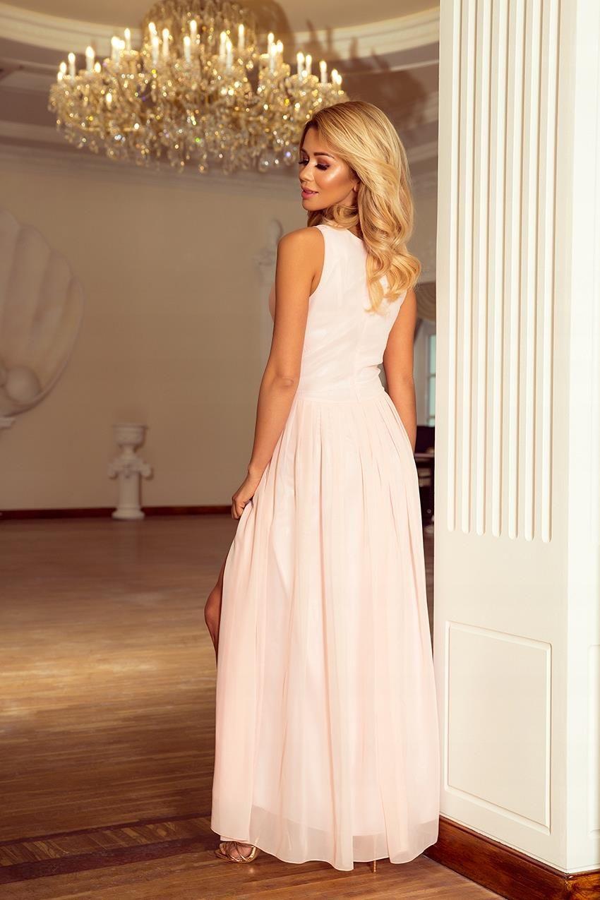 7689748b99 Zjawiskowa Sukienka Maxi Wesele Brzoskwinia XL - Ceny i opinie ...