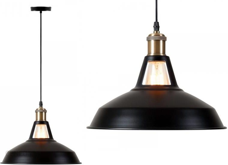 Superled Lampa Wisząca Retro Edison Loft E27 Czarna (6404)