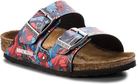 4212127c5964a Klapki BIRKENSTOCK - Arizona Kids 1004372 Spiderman Action Blue eobuwie