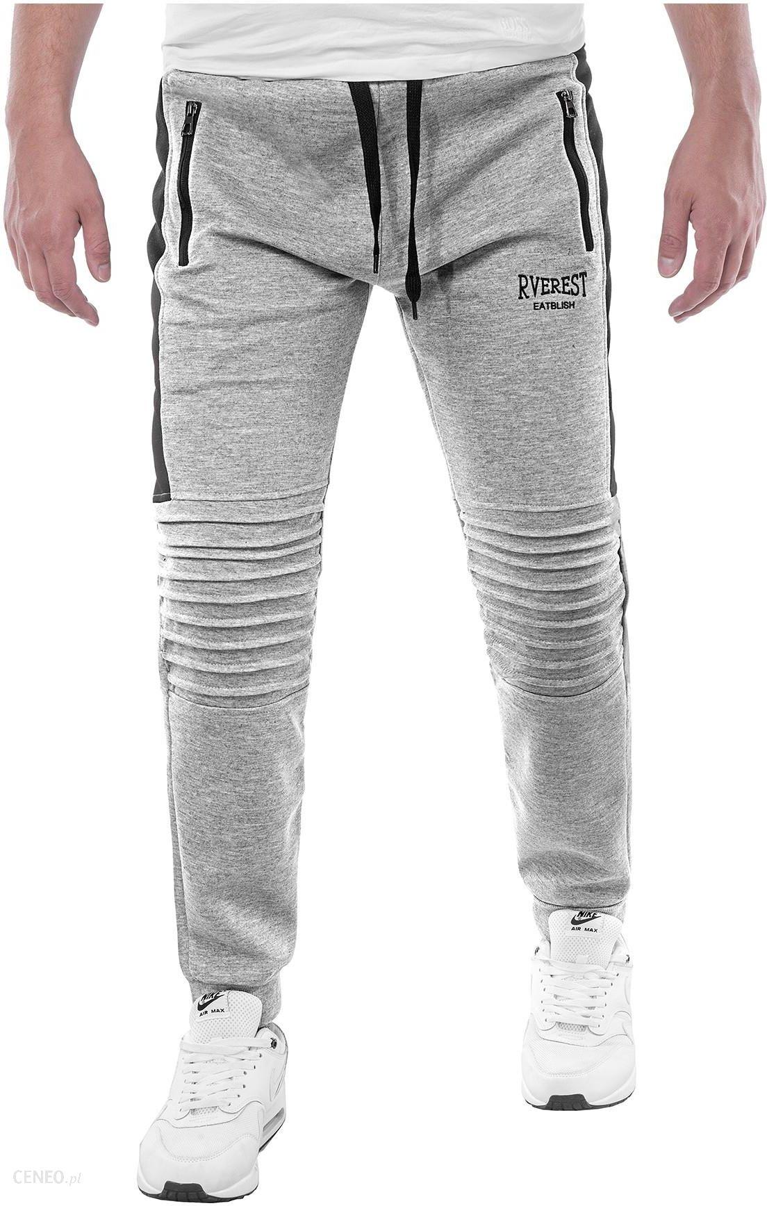 ce656838b1b6 Spodnie dresowe W80550 - szare - Ceny i opinie - Ceneo.pl