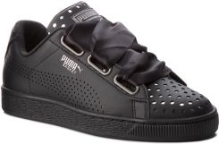 d216a4857b428 Sneakersy PUMA - Basket Heart Ath Lux Wn's 366728 03 Puma Black/Puma Black  eobuwie