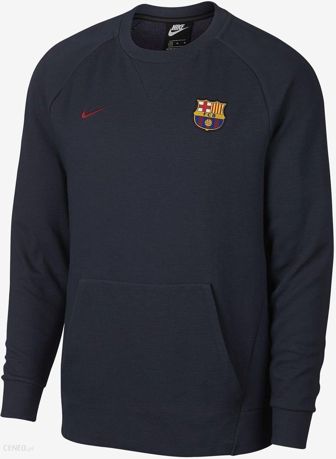 10c4d9a63 Bluza męska FC Barcelona Crew Optic Nike (granatowa) - Ceny i opinie ...