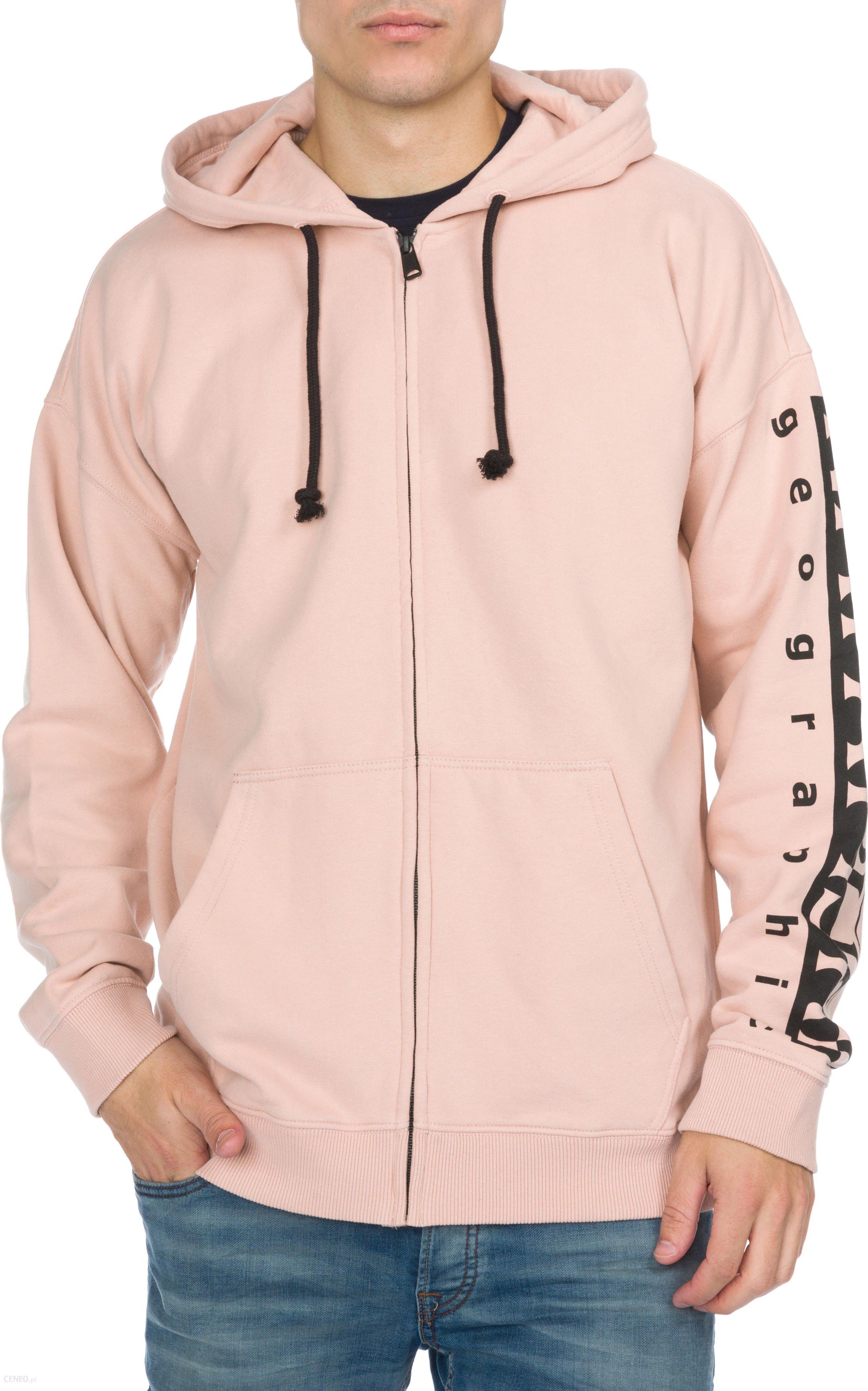 Nike – Bluza rozpinana o kroju loose fit z kapturem – Różowy