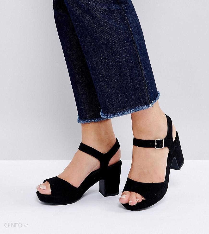 a4711ee161a71f New Look Wide Fit Low Chunky Heeled Sandal - Black - zdjęcie 1