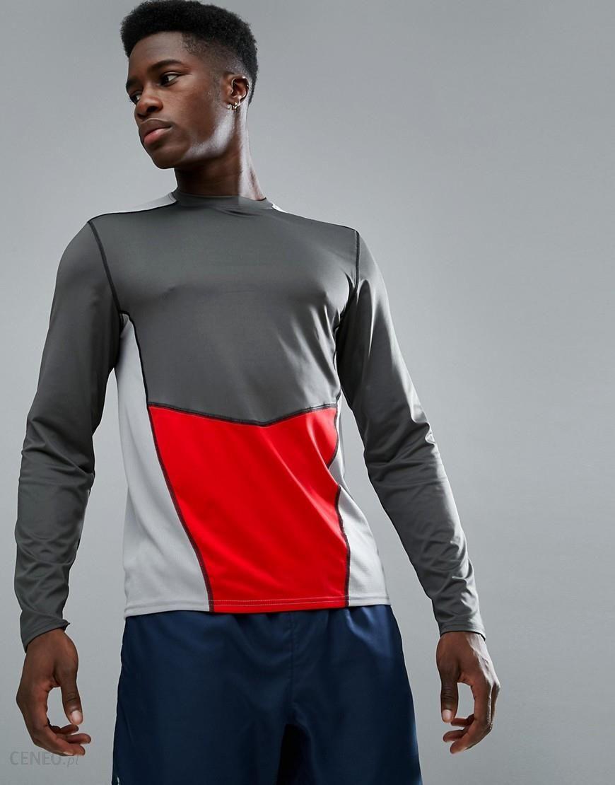 1ae60b61034 New Look SPORT Long Sleeve Top With Panel In Dark Grey - Grey - zdjęcie 1