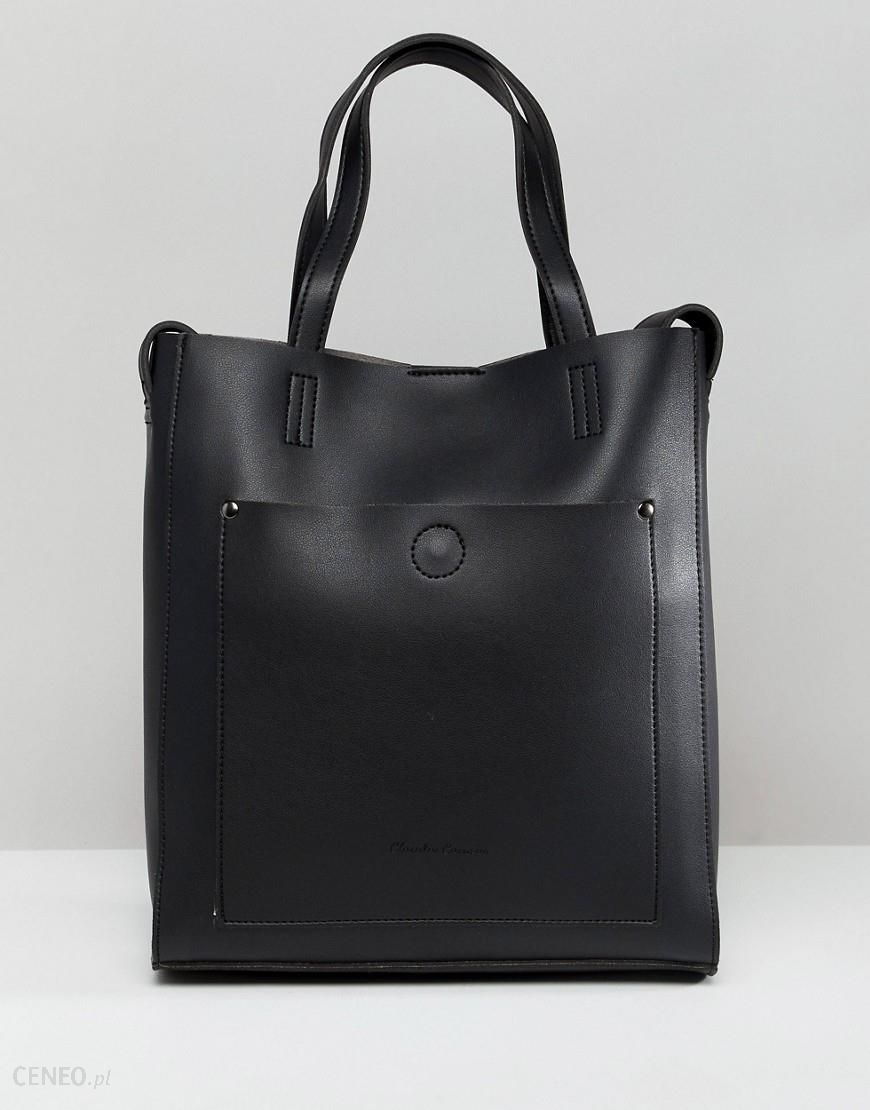 5dc9e53bf7ba7 Claudia Canova twin handle tote bag with pocket detail and additional strap  - Black - zdjęcie