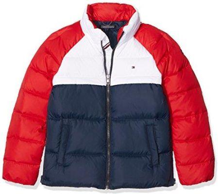 8b6b159fb Amazon Tommy Hilfiger kurtka dziewczęca thkg RWB Down Colorblock Jacket -  krój regularny