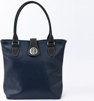 8a43717bfd19a ... damska monnari pojemna torba na ramię oryginalny shopper bag + saszetka  kosmetyczka - czerwono-czarny. BagStyle TOREBKA SKÓRZANA Shopper