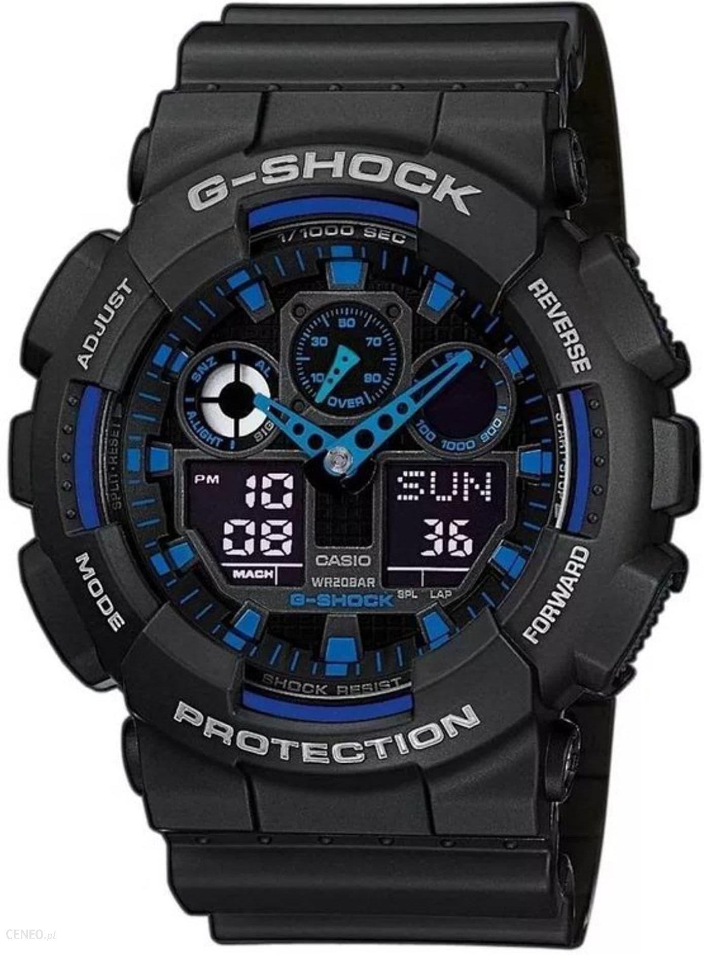 zegarek g shock ga 100 niebieski