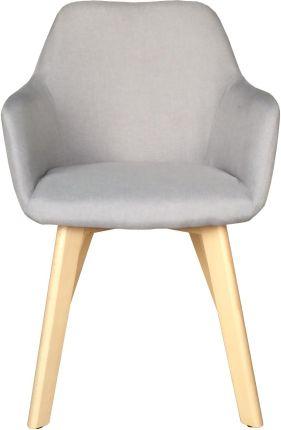 Krzesła Krzesło z podłokietnikami light grey szare MONARI