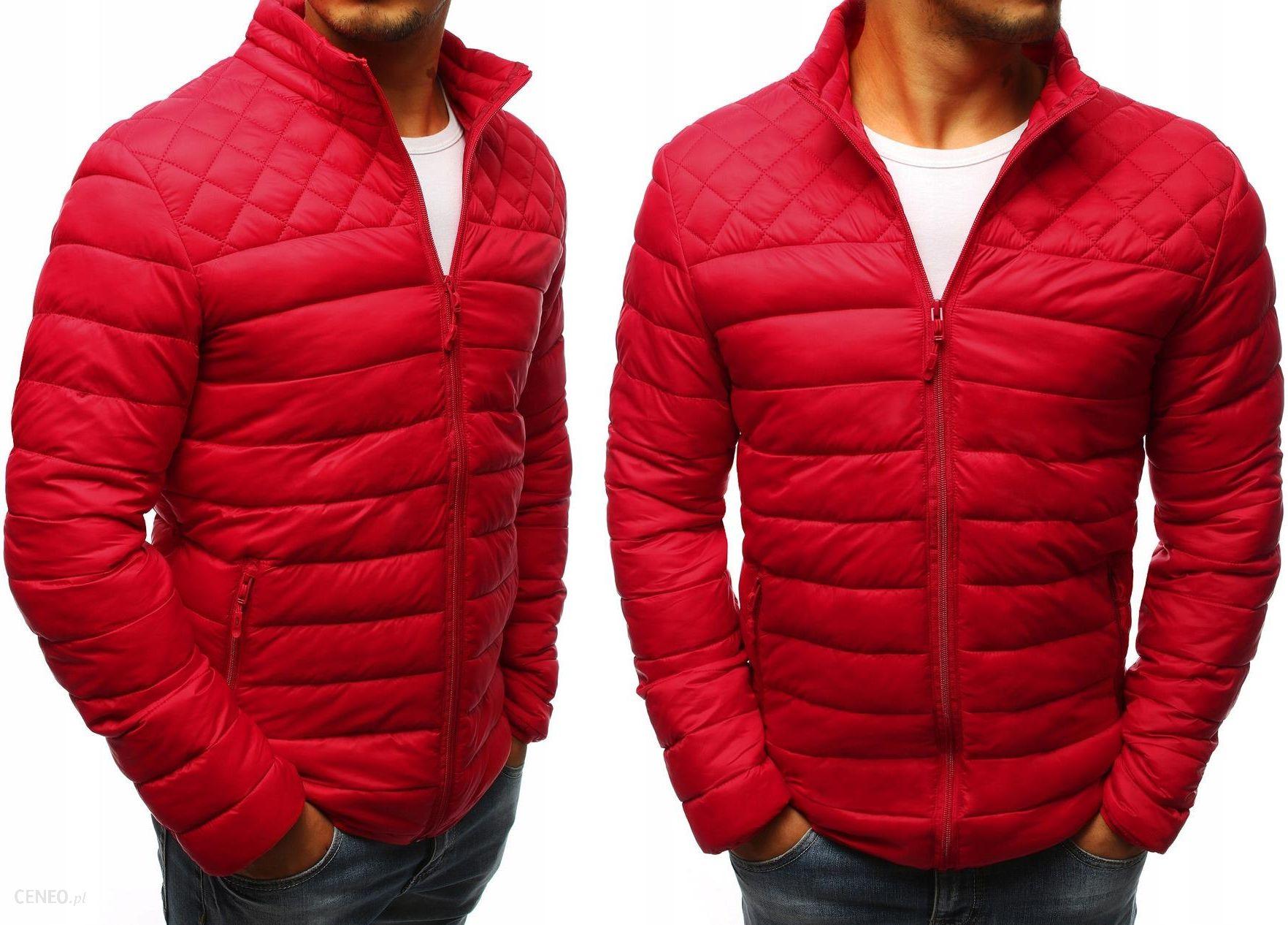 kurtka pikowana zara męska czerwona