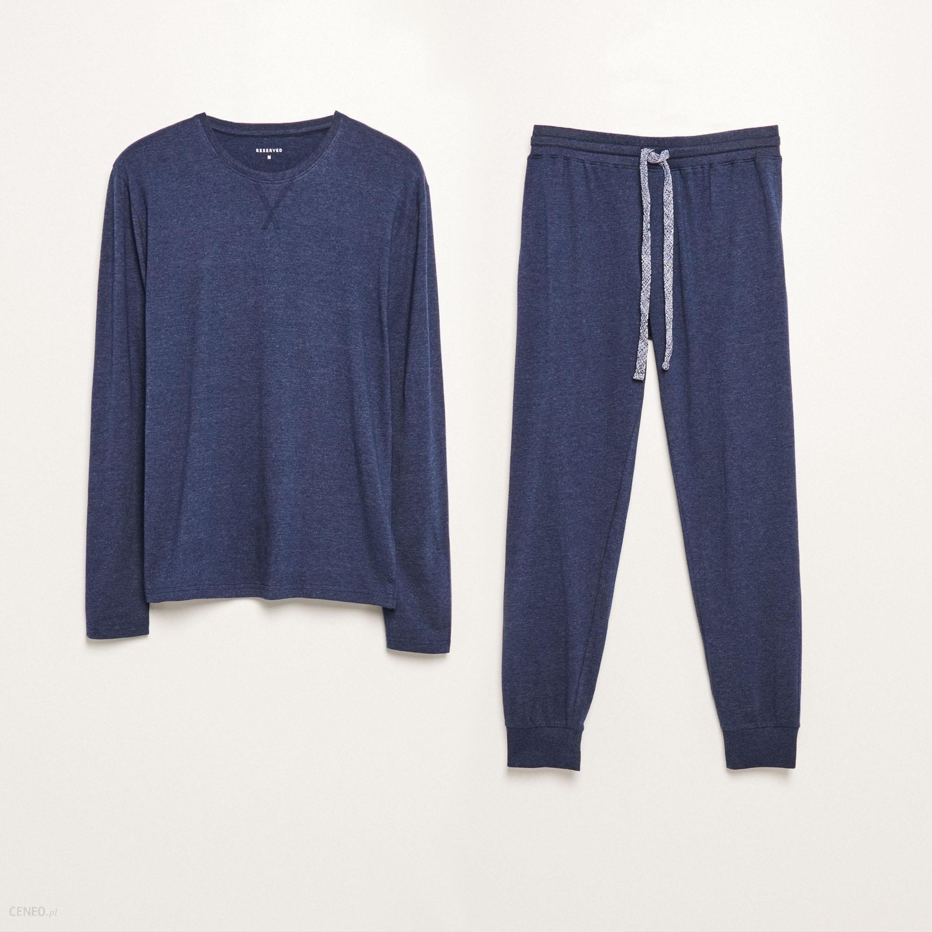 84ea90975b8c50 Reserved - Piżama dwuczęściowa ze spodniami - Niebieski - Ceny i ...
