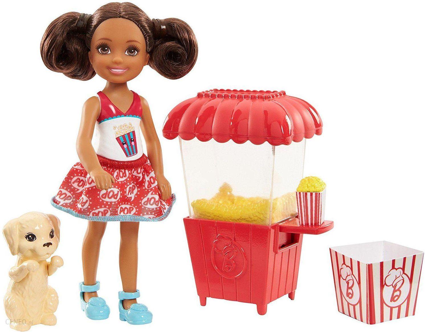974f242b1 Lalka Barbie Lalka Chelsea brunetka z popcornem FHP66 FHP68 - Ceny i ...