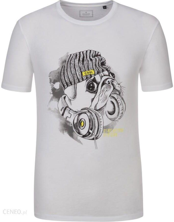 Ragman, T-shirt z nadrukiem z przodu w swobodnym stylu BiaŁy - zdjęcie 1 4ec158a292