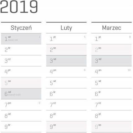 Planer ścienny Kalendarz 2019 119x84 A0 Sc Ceny I Opinie Ceneopl