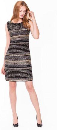 79d8e8c0ce EyeForFashion Wieczorowa sukienka z fakturowanej tkaniny L AF JAKLIN