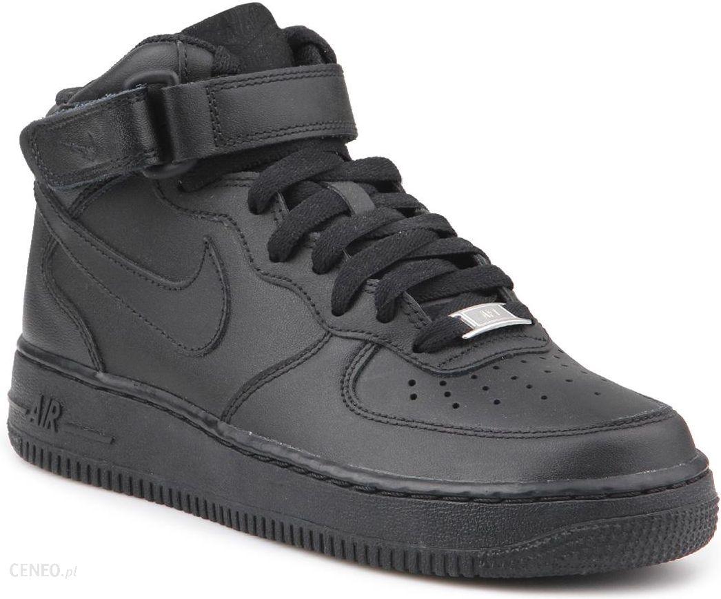 Buty Lifestylowe Nike Air Force 1 Mid Czarny Dziewczynki