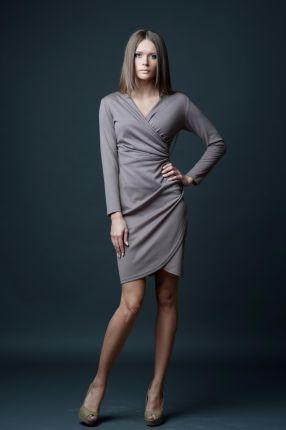0ec6590cd9 Vera Fashion - Ołówkowa sukienka codziennka Pola bordowa - Ceny i ...