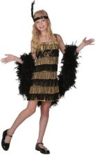 FUN Costumes Child Gold and Black Fringe Flapper Costume (FUN2013GDCHL)
