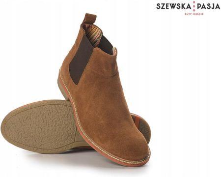 b633c4f20384c Podobne produkty do Man Fashion 2710 Bordowy Wysokie, Eleganckie, Skórzane  Męskie Sztyblety
